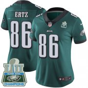 Wholesale Cheap Nike Eagles #86 Zach Ertz Midnight Green Team Color Super Bowl LII Champions Women's Stitched NFL Vapor Untouchable Limited Jersey