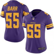 Wholesale Cheap Nike Vikings #55 Anthony Barr Purple Women's Stitched NFL Limited Rush Jersey