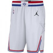 Wholesale Cheap 2019 NBA All-Star White Jordan Brand Swingman Shorts