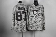 Wholesale Cheap Penguins #87 Sidney Crosby Camo Stitched NHL Jersey