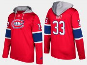 Wholesale Cheap Canadiens #33 Patrick Roy Red Name And Number Hoodie