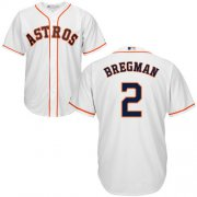 Wholesale Cheap Astros #2 Alex Bregman White New Cool Base Stitched MLB Jersey