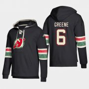 Wholesale Cheap New Jersey Devils #6 Andy Greene Black adidas Lace-Up Pullover Hoodie