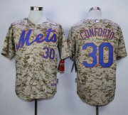 Wholesale Cheap Mets #30 Michael Conforto Camo Alternate Cool Base Stitched MLB Jersey