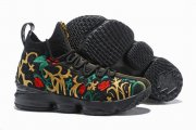 Wholesale Cheap Nike Lebron James 15 Air Cushion Shoes Flowers and Plants Black