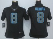 Wholesale Cheap Nike Titans #8 Marcus Mariota Black Impact Women's Stitched NFL Limited Jersey