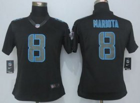 Wholesale Cheap Nike Titans #8 Marcus Mariota Black Impact Women\'s Stitched NFL Limited Jersey