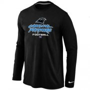 Wholesale Cheap Nike Carolina Panthers Critical Victory Long Sleeve T-Shirt Black