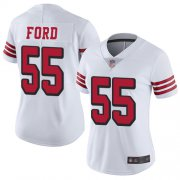 Wholesale Cheap Nike 49ers #55 Dee Ford White Rush Women's Stitched NFL Vapor Untouchable Limited Jersey