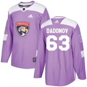 Wholesale Cheap Adidas Panthers #63 Evgenii Dadonov Purple Authentic Fights Cancer Stitched Youth NHL Jersey