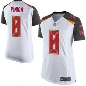 Wholesale Cheap Nike Buccaneers #8 Bradley Pinion White Women\'s Stitched NFL New Elite Jersey