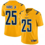 Wholesale Cheap Nike Chargers #25 Chris Harris Jr Gold Youth Stitched NFL Limited Inverted Legend Jersey