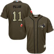 Wholesale Blue Jays #11 Kevin Pillar Green Salute to Service Stitched Youth Baseball Jersey