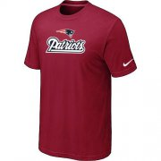 Wholesale Cheap Nike New England Patriots Authentic Logo NFL T-Shirt Red