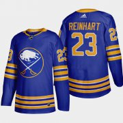 Cheap Buffalo Sabres #23 Sam Reinhart Men's Adidas 2020-21 Home Authentic Player Stitched NHL Jersey Royal Blue