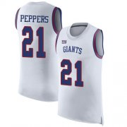 Wholesale Cheap Nike Giants #21 Jabrill Peppers White Men's Stitched NFL Limited Rush Tank Top Jersey