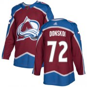 Wholesale Cheap Adidas Avalanche #72 Joonas Donskoi Burgundy Home Authentic Stitched Youth NHL Jersey