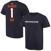 Wholesale Cheap Men's Denver Broncos Pro Line College Number 1 Dad T-Shirt Navy