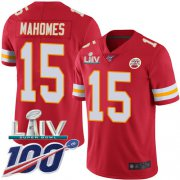 Wholesale Cheap Nike Chiefs #15 Patrick Mahomes Red Super Bowl LIV 2020 Team Color Youth Stitched NFL 100th Season Vapor Untouchable Limited Jersey