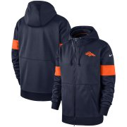 Wholesale Cheap Denver Broncos Nike Sideline Performance Full-Zip Hoodie Navy