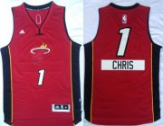 Wholesale Cheap Miami Heat #1 Chris Bosh Revolution 30 Swingman 2014 Christmas Day Red Jersey