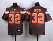 Wholesale Cheap Nike Browns #32 Jim Brown Brown Team Color Men's Stitched NFL New Elite Jersey
