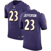 Wholesale Cheap Nike Ravens #23 Tony Jefferson Purple Team Color Men's Stitched NFL Vapor Untouchable Elite Jersey