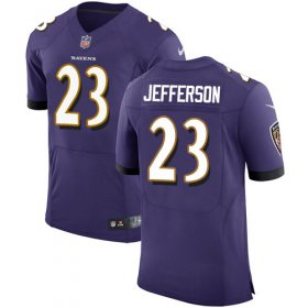 Wholesale Cheap Nike Ravens #23 Tony Jefferson Purple Team Color Men\'s Stitched NFL Vapor Untouchable Elite Jersey