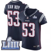 Wholesale Cheap Nike Patriots #53 Kyle Van Noy Navy Blue Team Color Super Bowl LIII Bound Men's Stitched NFL Vapor Untouchable Elite Jersey