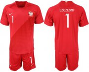 Wholesale Cheap Poland #1 Szczesny Away Soccer Country Jersey