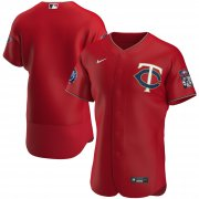 Wholesale Cheap Minnesota Twins Men's Nike Red Alternate 2020 60th Season Authentic Team MLB Jersey