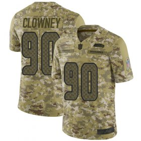 Wholesale Cheap Nike Seahawks #90 Jadeveon Clowney Camo Youth Stitched NFL Limited 2018 Salute to Service Jersey