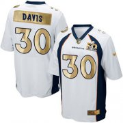 Wholesale Cheap Nike Broncos #30 Terrell Davis White Men's Stitched NFL Game Super Bowl 50 Collection Jersey