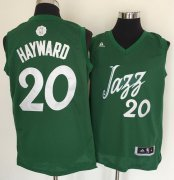 Wholesale Cheap Men's Utah Jazz #20 Gordon Hayward adidas Green 2016 Christmas Day Stitched NBA Swingman Jersey