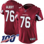 Wholesale Cheap Nike Cardinals #76 Marcus Gilbert Red Team Color Women's Stitched NFL 100th Season Vapor Untouchable Limited Jersey