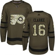 Wholesale Cheap Adidas Flyers #16 Bobby Clarke Green Salute to Service Stitched Youth NHL Jersey