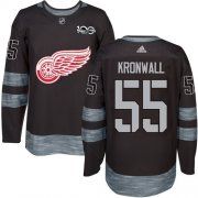 Wholesale Cheap Adidas Red Wings #55 Niklas Kronwall Black 1917-2017 100th Anniversary Stitched NHL Jersey