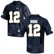 Wholesale Cheap Notre Dame Fighting Irish 12 Ian Book Navy College Football Jersey