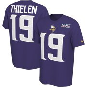 Wholesale Cheap Minnesota Vikings #19 Adam Thielen Nike NFL 100th Season Player Pride Name & Number Performance T-Shirt Purple