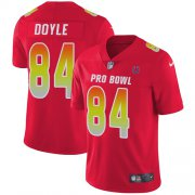 Wholesale Cheap Nike Colts #84 Jack Doyle Red Men's Stitched NFL Limited AFC 2018 Pro Bowl Jersey
