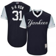 "Wholesale Cheap Yankees #31 Aaron Hicks Navy ""A-A Ron"" Players Weekend Authentic Stitched MLB Jersey"