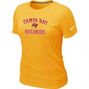 Wholesale Cheap Women's Nike Tampa Bay Buccaneers Heart & Soul NFL T-Shirt Yellow