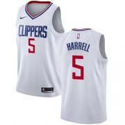 Wholesale Cheap Nike Clippers #5 Montrezl Harrell White NBA Swingman Association Edition Jersey