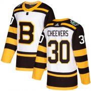 Wholesale Cheap Adidas Bruins #30 Gerry Cheevers White Authentic 2019 Winter Classic Stitched NHL Jersey
