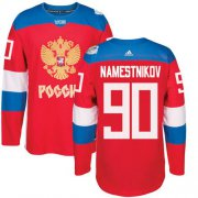Wholesale Cheap Team Russia #90 Vladislav Namestnikov Red 2016 World Cup Stitched NHL Jersey