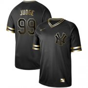 Wholesale Cheap Nike Yankees #99 Aaron Judge Black Gold Authentic Stitched MLB Jersey