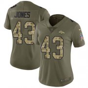 Wholesale Cheap Nike Broncos #43 Joe Jones Olive/Camo Women's Stitched NFL Limited 2017 Salute To Service Jersey