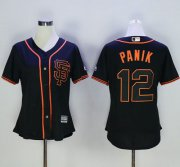 Wholesale Cheap Giants #12 Joe Panik Black Alternate Women's Stitched MLB Jersey