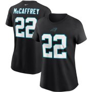 Wholesale Cheap Carolina Panthers #22 Christian McCaffrey Nike Women's Team Player Name & Number T-Shirt Black