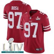 Wholesale Cheap Nike 49ers #97 Nick Bosa Red Super Bowl LIV 2020 Team Color Youth Stitched NFL Vapor Untouchable Limited Jersey